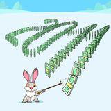 New year domino effect Stock Image