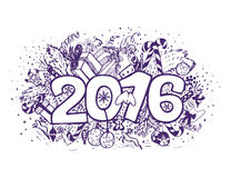 New year doodle compotision Royalty Free Stock Photo