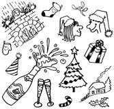 New year doodles Stock Images