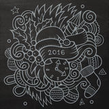 2016 New year doodles elements background. Vector. Chalkboard illustration Royalty Free Illustration