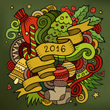 2016 New year doodles elements background. Vector. Colorful illustration Royalty Free Illustration