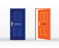 New year doors Stock Image