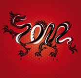 New year dragon card. Abstract new year dragon card vector illustration Royalty Free Illustration