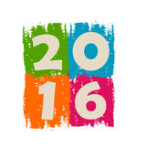 New year 2016 in drawn colorful banner. Holiday concept Royalty Free Stock Photos