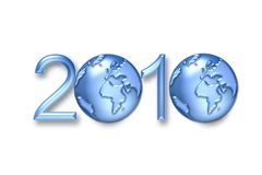 New year earth. 2010 happy new year earth background Royalty Free Stock Photos