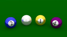 New Year 2014 - Eight Ball Pool Style Stock Photography