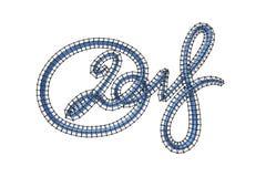 New 2018 year elegant blue lettering number figures isolated on white background. 3D illustration Stock Image