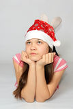New-year emotions. New-year emotions of little girl Stock Photos