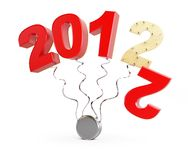 New year end of 2012. New year 2012 on a white background Royalty Free Stock Image