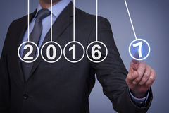 New Year 2017 Energy Concept on Visual Screen Stock Photos