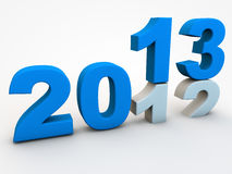 New year Eve 2013. Over 2012 Royalty Free Stock Photos