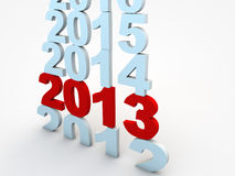 New year Eve. 2013, years rolling by Stock Photography