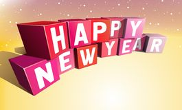 New Year Eve. Happy New Year inscription made of colour bricks stock illustration