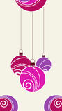 New Year eve background. New Year eve background with hanging ornate balls royalty free illustration