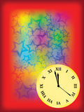 New Year eve background. With clock vector illustration royalty free illustration