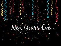 New year eve background. With confetti and serpentine, vector illustration vector illustration