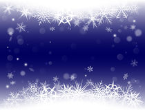 New Year Eve, Christmas background with snowflakes and snow drifts. New Year Eve and Christmas background with snowflakes and snow drifts. Blue color Royalty Free Stock Images