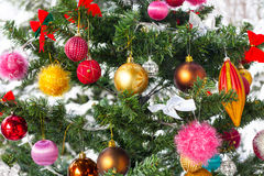 New Year Eve and Christmas tree Stock Image