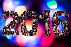 New year eve collage Royalty Free Stock Image