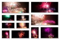 New year eve collage Royalty Free Stock Photo