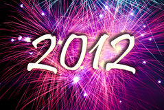 New year eve fireworks. 2012 number on fireworks background royalty free illustration