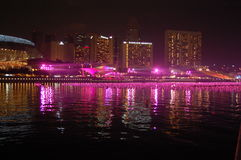 New year eve at Marina Bay- Singapore Royalty Free Stock Photos