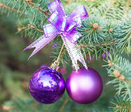 New Year Eve tree decoration Stock Photo