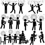New Year or Event Party at Office with Salutes stock illustration