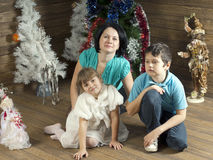 New Year family Royalty Free Stock Photo