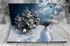 New Year fantasy in my sweet dreams, christmas Stock Image