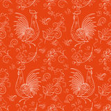 New Year Fantasy Rooster and Berry Royalty Free Stock Photos
