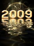 New Year festive background Stock Images