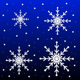 New-year festive background with snowflakes Royalty Free Stock Images