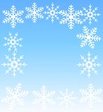 New-year festive background with snowflakes Stock Images