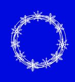 New-year festive background with snowflakes Royalty Free Stock Image