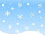 New-year festive background with snowflakes Royalty Free Stock Photo