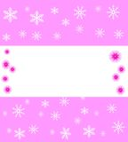 New-year festive background with snowflakes Royalty Free Stock Photography