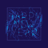 New Year. Festive banner or poster with the phrase happy new year. 2017. New Year. Festive banner or poster with the phrase happy new year. Vector illustration Stock Photography