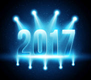 New Year 2017 festive party vector background Royalty Free Stock Photography