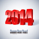 New 2014 year figures. New 2014 year glossy figures illustration Stock Photo