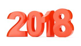 2018 new year figures isolated on white background. 3d rendering Royalty Free Stock Images