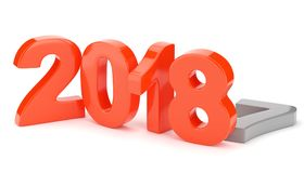 2018 new year figures isolated on white background. 3d rendering Royalty Free Stock Photo