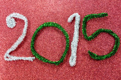 New year figures on red base Royalty Free Stock Photo