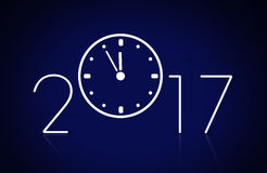 New year 2017. 2017 new year figures and watch Royalty Free Stock Images