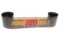 New Year filmstrip. 2010 - 2011 - 2012 Royalty Free Stock Images