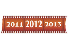 New year filmstrip Stock Image
