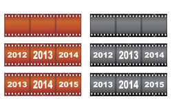New Year filmstrips. Set of New Year filmstrips vector illustration Royalty Free Stock Images