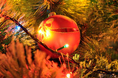 New-year fir-tree toy Royalty Free Stock Photos