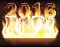 2016 New year  fire flame year, vector. Happy New year 2016 fire flame year, vector illustration Royalty Free Stock Images