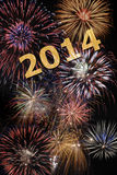 New year 2014. With firework Stock Photography